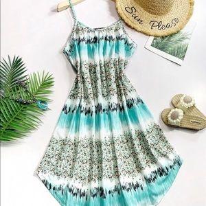 🔥Brand New🔥 Tie Dye + Floral Cami Dress XL